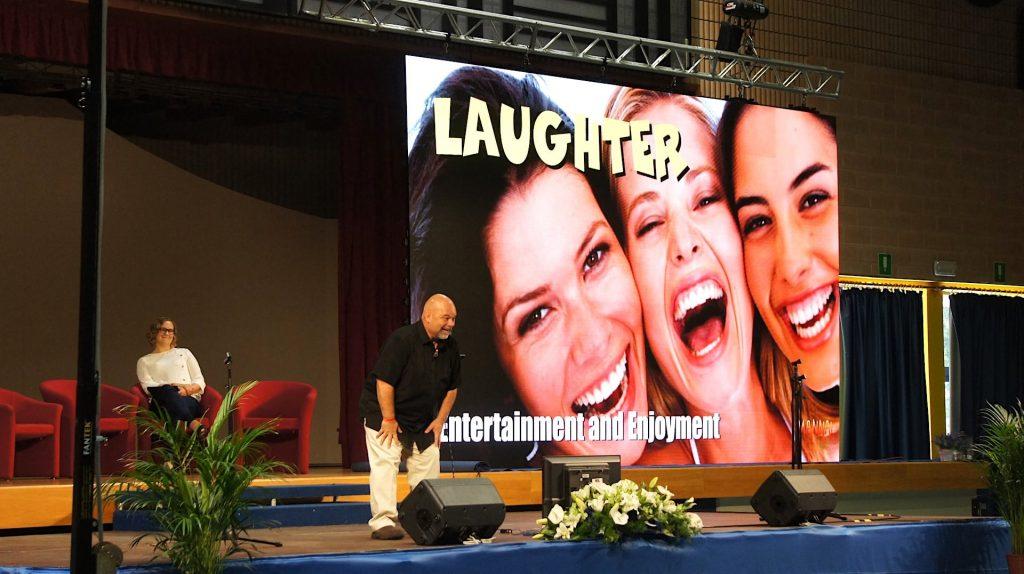 Dr. Rick Chromey speaking on laughter