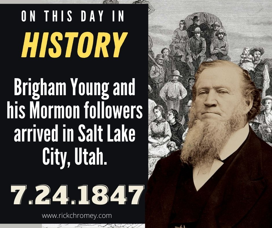 OTDIH.July 24 1847.Brigham Young Arrives in SLC