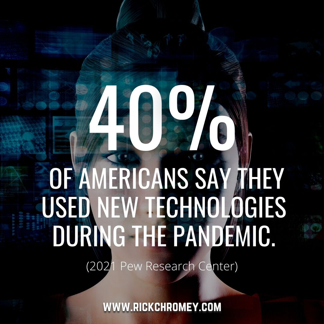 GenTech Factoid.40% of Americans Used New Techs During Pandemic