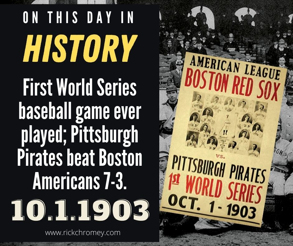 On This Day in History October 1, 1903 First World Series
