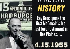 OTDIH.April 15 1955.Ray Kroc 1st McDonalds