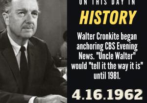 OTDIH.April 16 1962.Walter Cronkite Debut